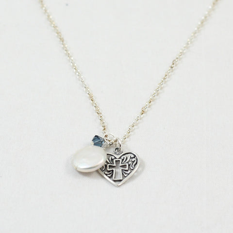 Parable of the Pearl Cross Your Heart Necklace