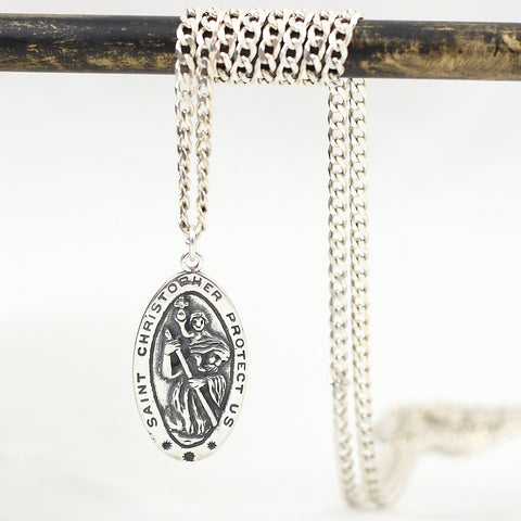 St. Christopher Pendant Sterling Necklace