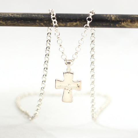 Symbol of Hope Sterling Silver Cross Necklace