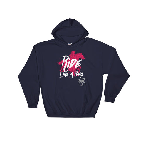 Ride Like A Girl Hooded Sweatshirt