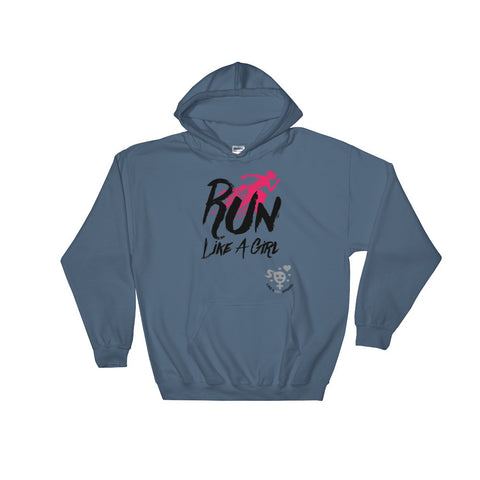 Run Like A Girl Hooded Sweatshirt