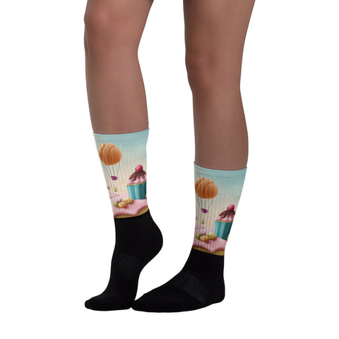 Candy Land Black foot socks