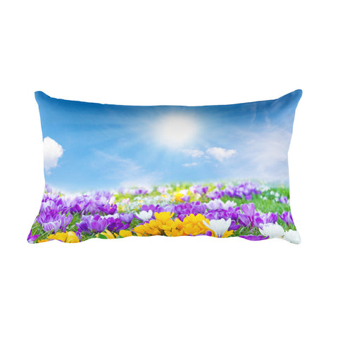 Field of Flowers Rectangular Pillow