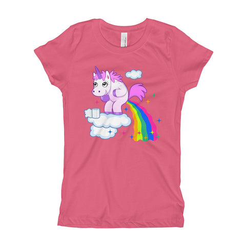 Unicorn Goes Number Two Girl's T-Shirt