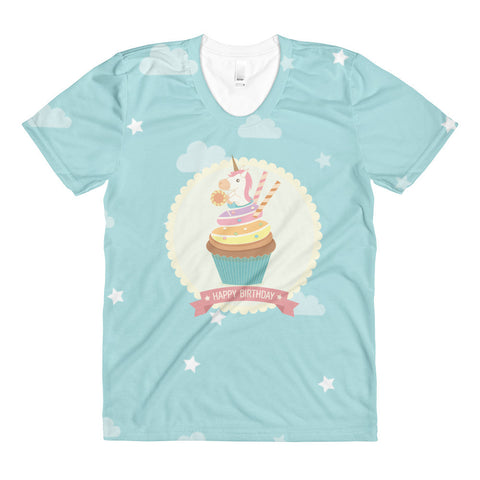 Unicorn Cupcake women's crew neck t-shirt