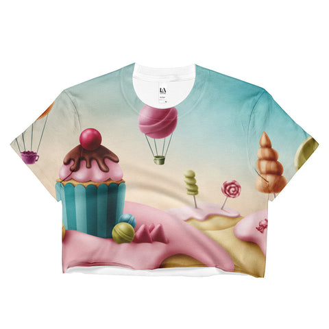 Candy Land Ladies Crop Top