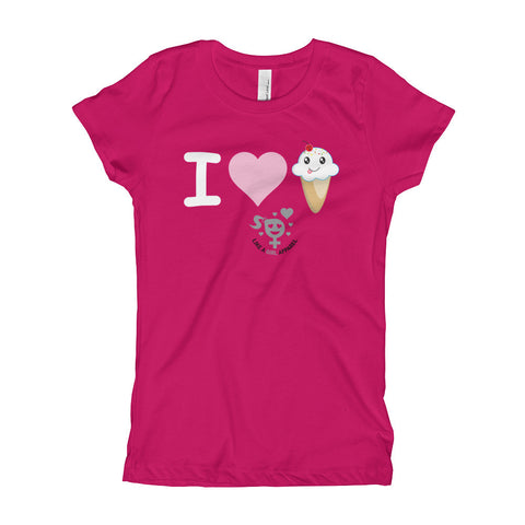 I Heart Ice Cream Girl's T-Shirt