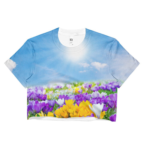 Field of Flowers Ladies Crop Top