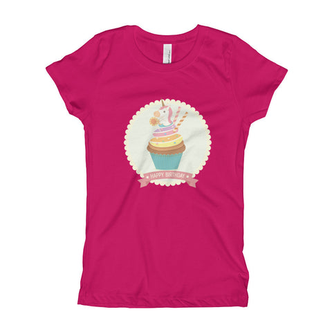 Unicorn Cupcake Girl's T-Shirt