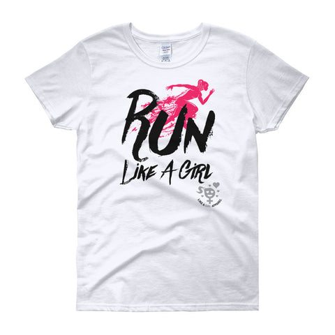 Run Like A Girl Women's short sleeve t-shirt