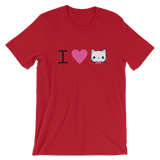 I Heart Cat Short-Sleeve Unisex T-Shirt