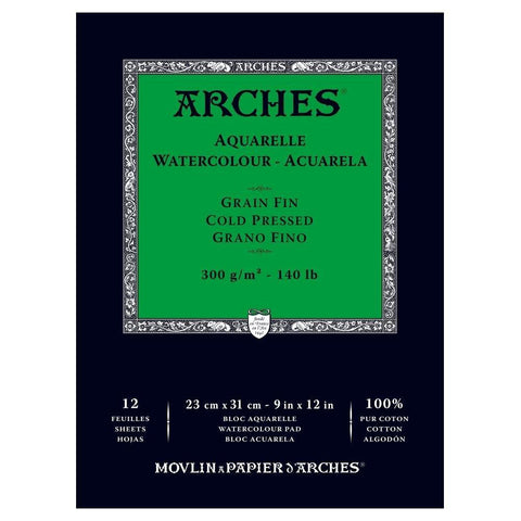 Arches Watercolor Pad 9x12-Craft.ph