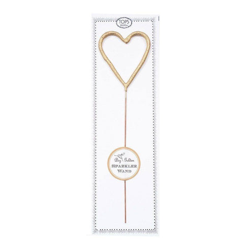 Big Golden Sparkler Wand Heart-Craft.ph