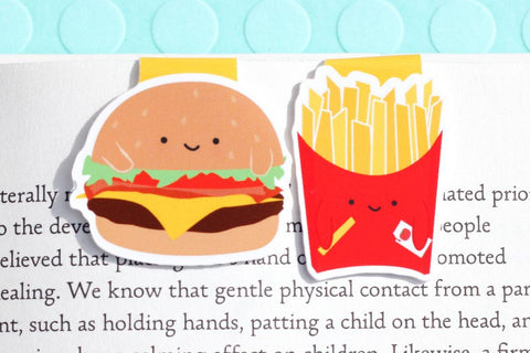 Burger and Fries Magnetic Bookmark (Mini 2 Pack)-Craft.ph