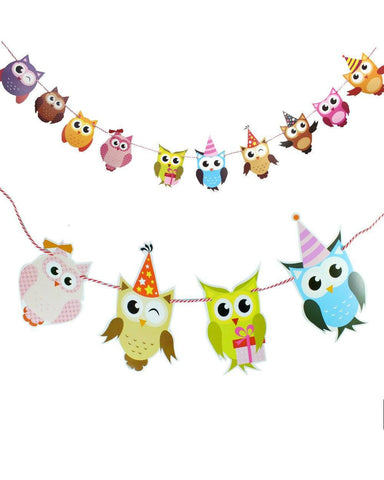 Cartoon Owl Bunting Decoration-Craft.ph