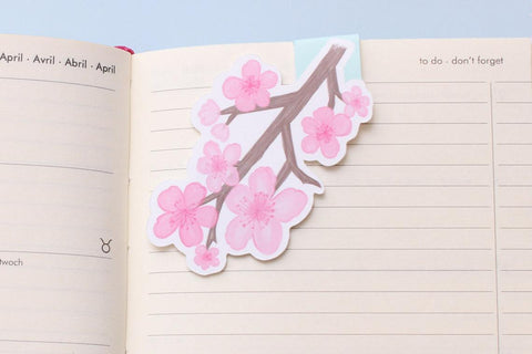 Cherry Blossom Magnetic Bookmark-Craft.ph