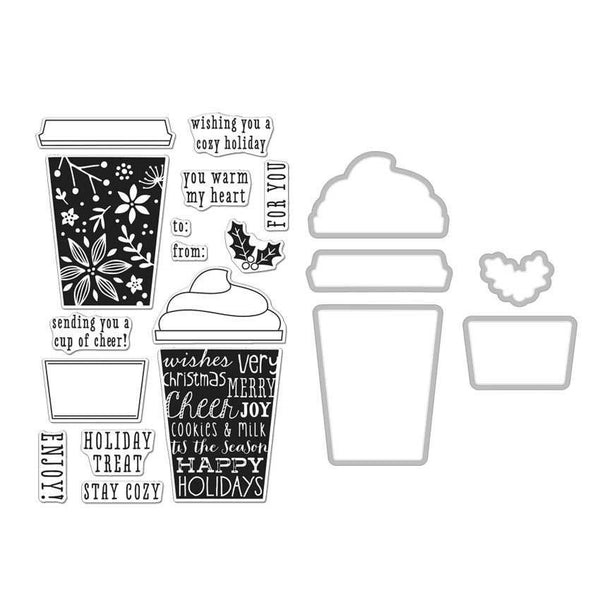 Coffee Cup Stamp + Die Combo-Craft.ph