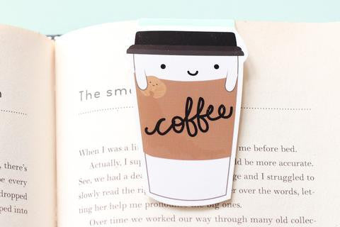 Coffee Paper Cup Magnetic Bookmark-Craft.ph