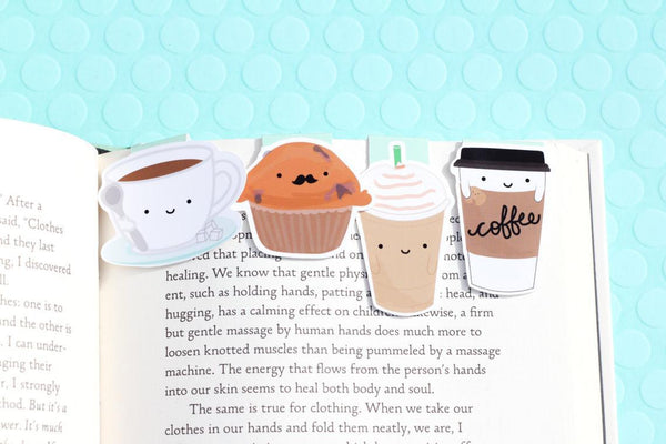 Coffee Set Magnetic Bookmarks (Mini 4 Pack)-Craft.ph