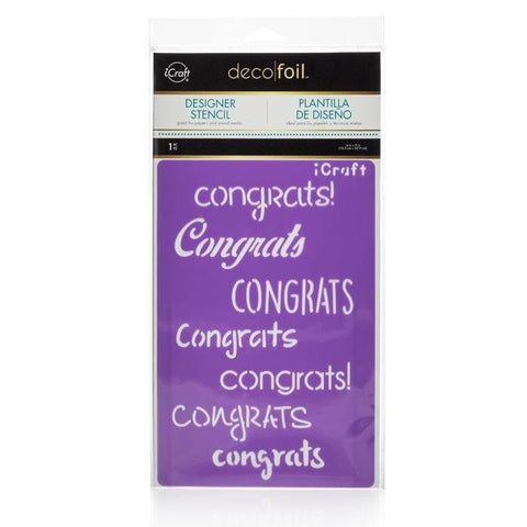 Deco Foil™ Congrats Stencil-Craft.ph