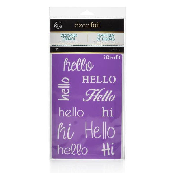 Deco Foil™ Hello Stencil-Craft.ph