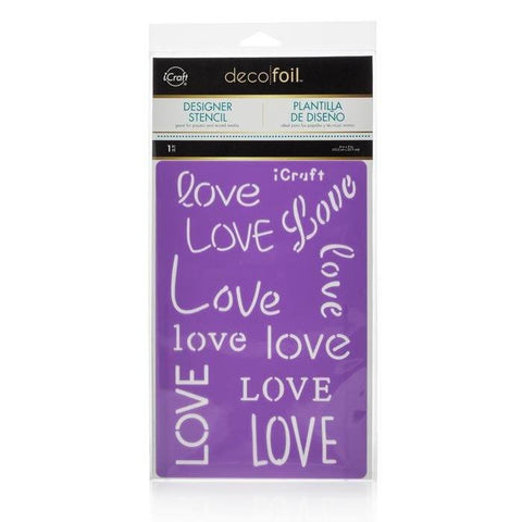 Deco Foil™ Love Stencil-Craft.ph