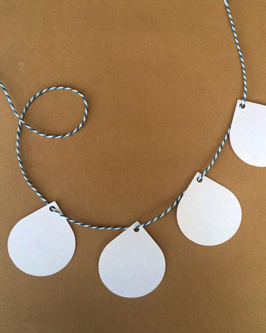 Droplet shape tag-Craft.ph