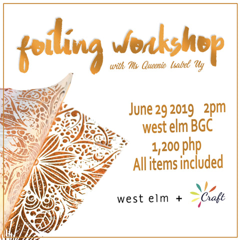 Foiling Workshop June 29, 2019-Craft.ph