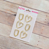 Freckled Fawn Tab / Heart Paper Clips (gold)-Craft.ph