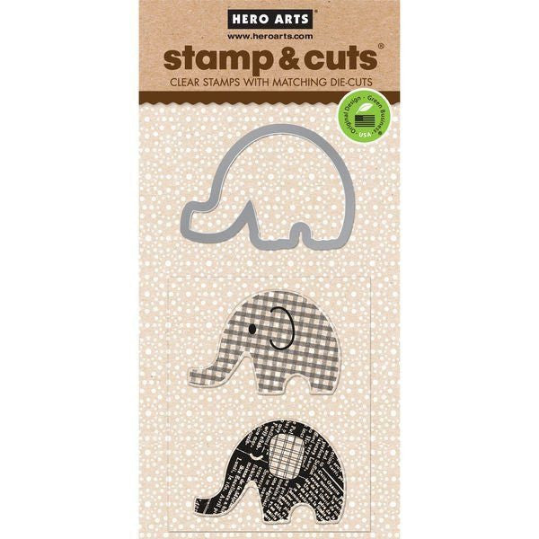 Hero Arts Stamp & Cuts - Elephant-Craft.ph