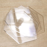 Hexagon Acrylic (4pcs set)-Craft.ph