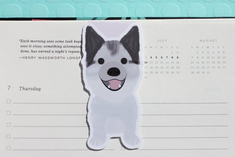 Husky Dog (Pomsky) Magnetic Bookmark-Craft.ph
