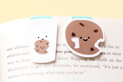 Milk and Cookie Magnetic Bookmarks Mini 2pcs-Craft.ph