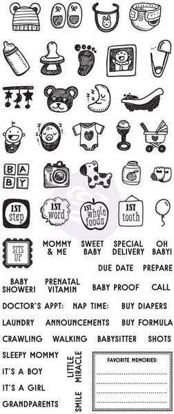 "My Prima Planner Clear Stamps - ""Baby""-Craft.ph"