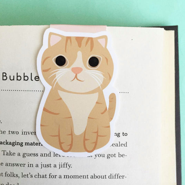 Orange Tabby Cat Magnetic Bookmark-Craft.ph
