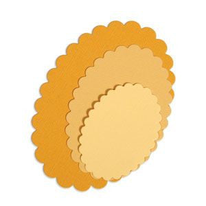 Sizzix Framelits Die Set 4PK - Ovals, Scallop-Craft.ph
