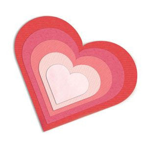 Sizzix Framelits Die Set 6PK - Hearts-Craft.ph
