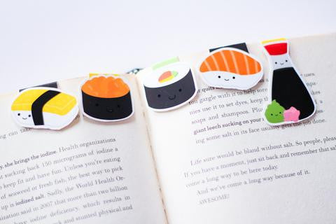 Sushi Magnetic Bookmark Mini 5pc set-Craft.ph