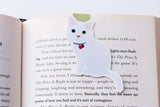 White Domestic Shorthair Cat Magnetic Bookmark-Craft.ph