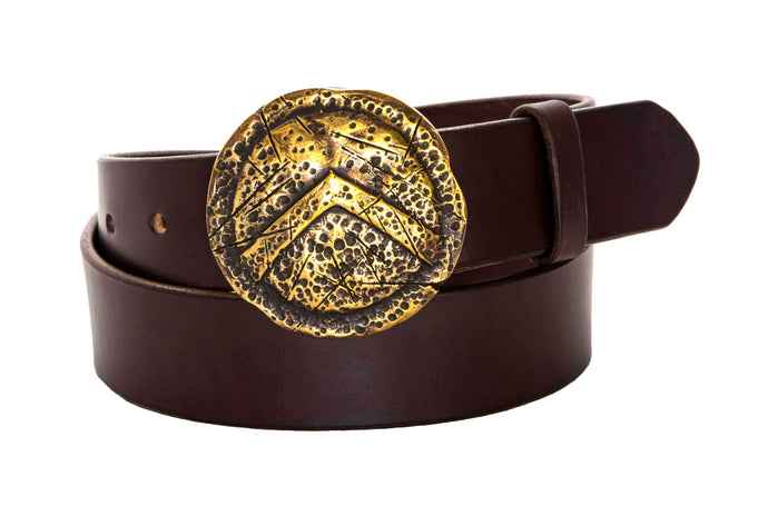 Leather Belt with Spartan Shield Buckle - Gone Rogue