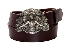 Leather Belt with Vintage Indian Chief Buckle - Gone Rogue