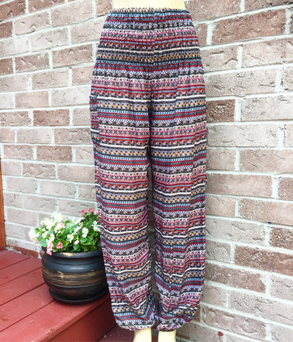 Brown Aztec Handmade Harem Pants