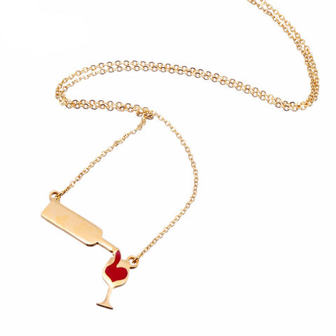 LOVE WINE NECKLACE PENDANT - EnoGeeks