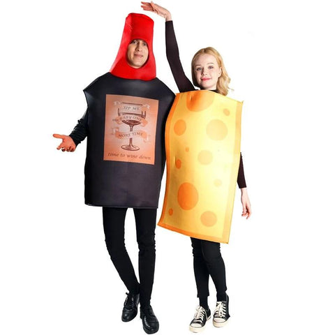 Wine Bottle &Cheese Costume