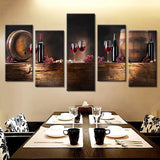 5 PIECES WINE CANVAS - EnoGeeks