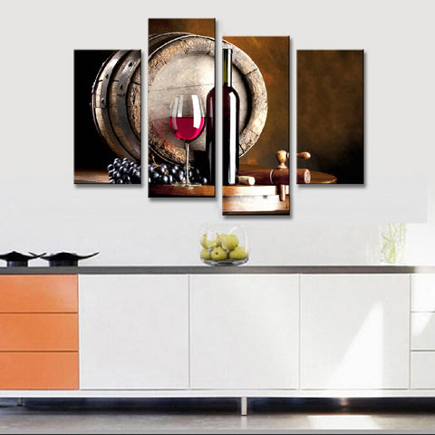 4 PIECES WINE CANVAS - EnoGeeks