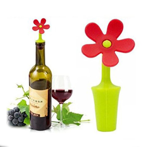 SILICONE FLOWER WINE STOPPER - EnoGeeks