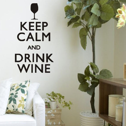 KEEP CALM AND DRINK WINE WALL STICKER - EnoGeeks
