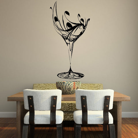 WINE GLASS WALL STICKER - EnoGeeks