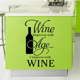 I IMPROVE WITH WINE WALL STICKER - EnoGeeks